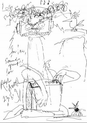Ralph Steadman cartoon